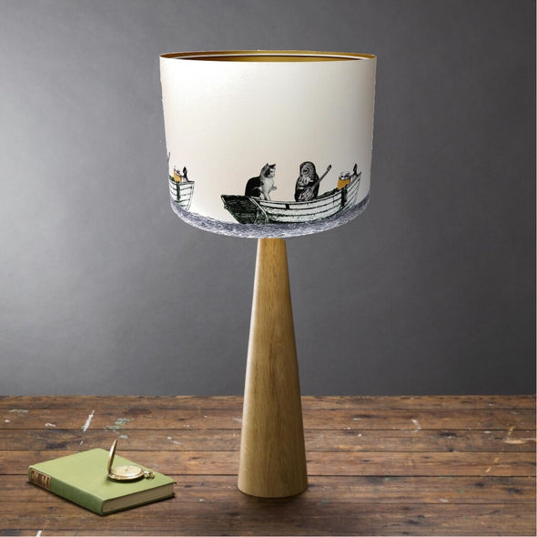 Owl And Pussycat Illustrated Lampshade