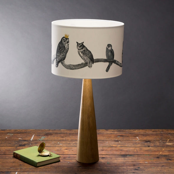 Owls Illustrated Lampshade