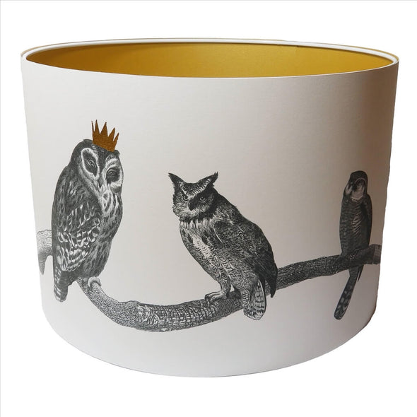 Owls Lampshade With Gold Lining