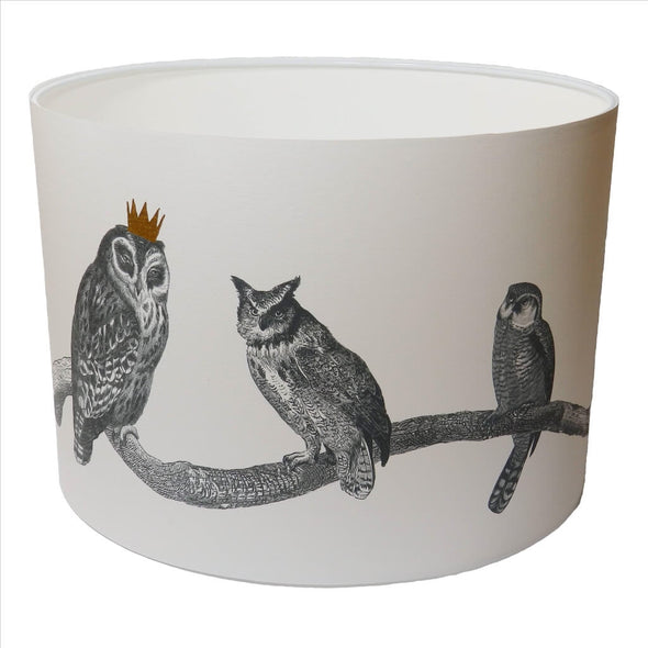 Owls Lampshade With White Lining