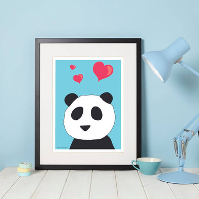 Panda Love Nursery Wall Art