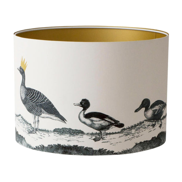 Parade of Ducks Lampshade With Gold Lining