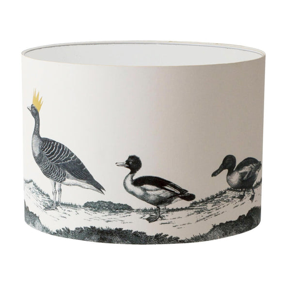 Parade of Ducks Lampshade With White Lining