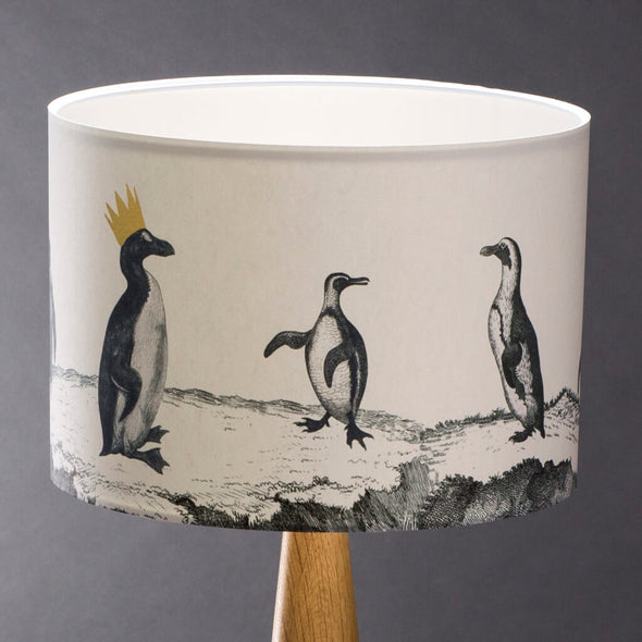 Penguins Illustrated Lampshade