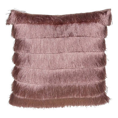 Pink Gatsby Fringed Cushion