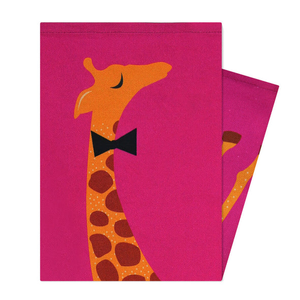 Pink Giraffe Kitchen Towel