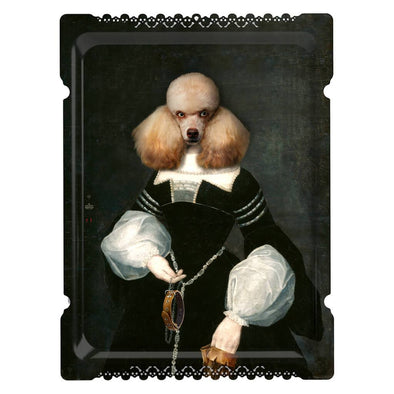 Poodle Portrait Serving Tray