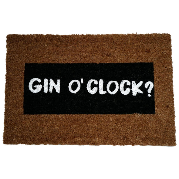 Quirky Gin Oclock Glitter Doormat
