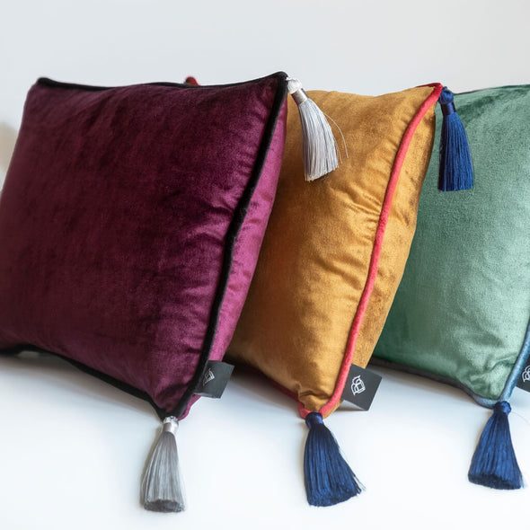 Rectangular Cushions With Tassels