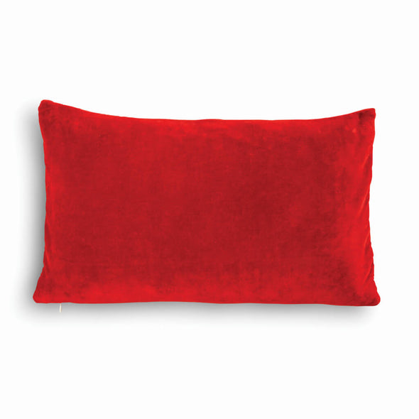 Red Lightning Velvet Cushion