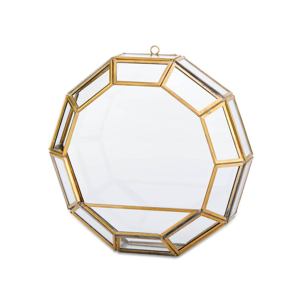 Round Brass Wall Planter