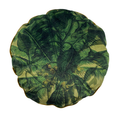 Round Palms Velvet Cushion