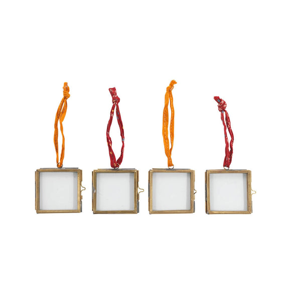 Mini Hanging Brass Picture Frames