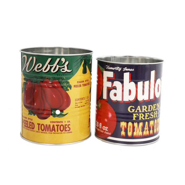 Set Of Retro Confectionary Tomato Storage Tins