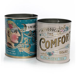 Set of Vintage Style Palmistry Tins