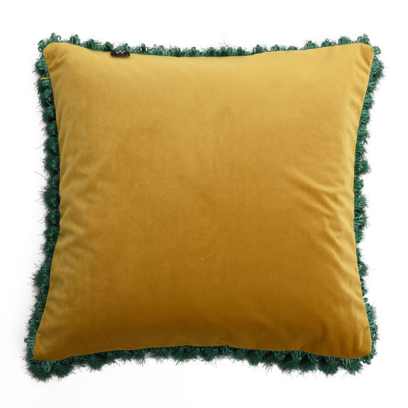 Skeletal Fish Velvet Cushion Back