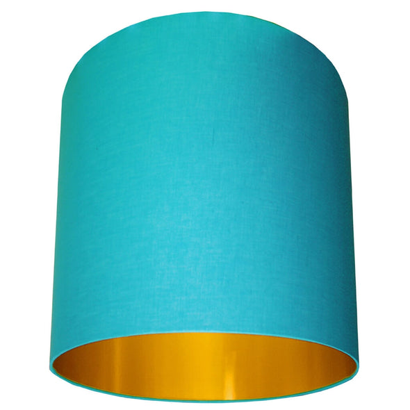 Sky Blue Handmade Lampshade With Gold Lining