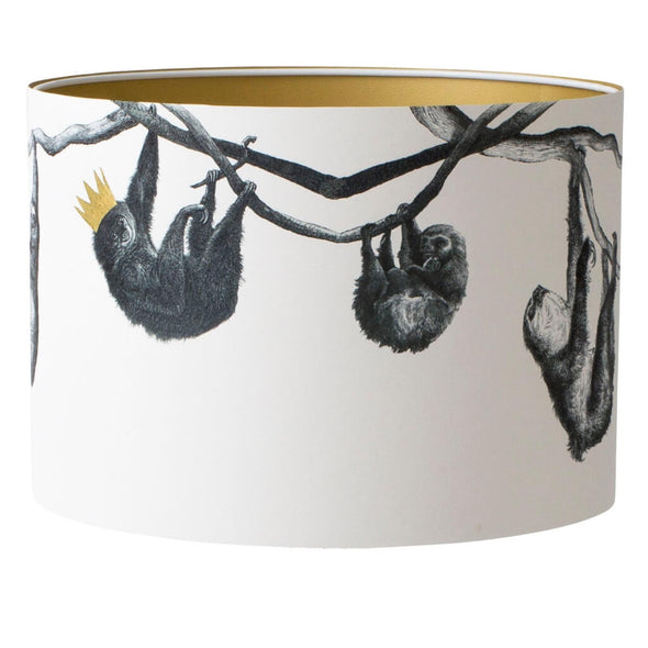 Sloth Lampshade With Gold Lining