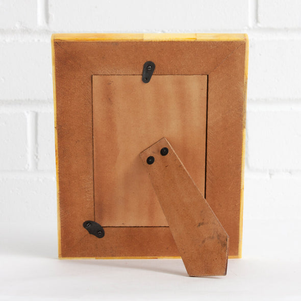 Squiggle Yellow Picture Frame Back