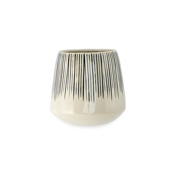 Striped Ceramic Wall Planter