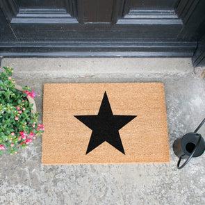Stylish Black Star Doormat