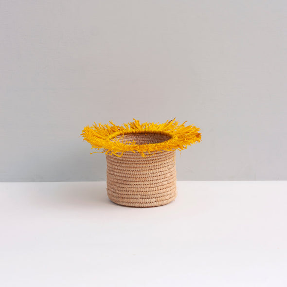 Tassel Storage Yellow Basket