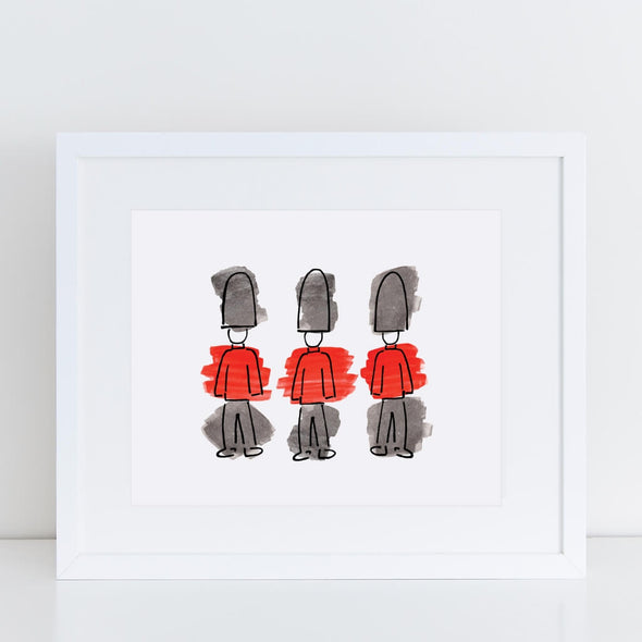 The Queens Guards London Art Print