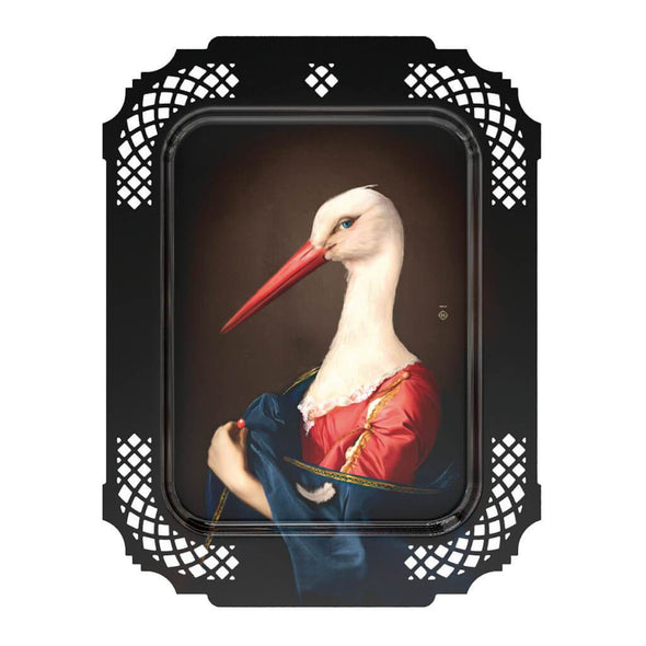 The Stork Portrait Serving Tray