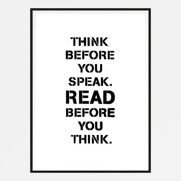 Think Before You Speak Print