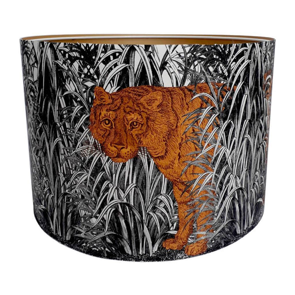 Tiger Lampshade With Gold Lining