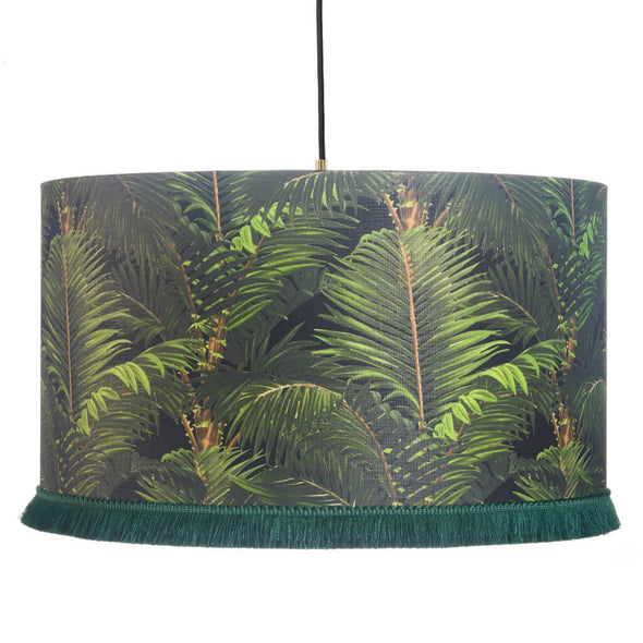 Tropical Ceiling Lamp Shade With Gold Lining