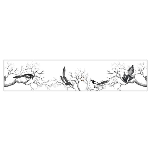 Victorian Magpies Illustration Lampshade