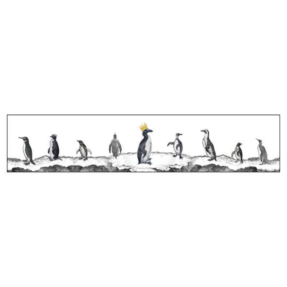 Victorian Penguins Illustration Lampshade