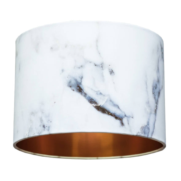 White Marble Effect Lampshade