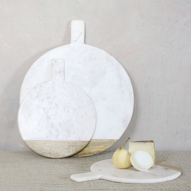 White Marble Round Chopping Board