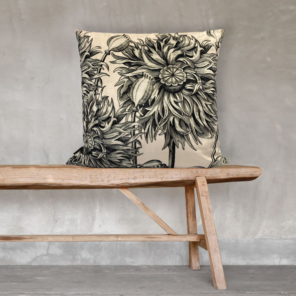 White Poppy Cushion