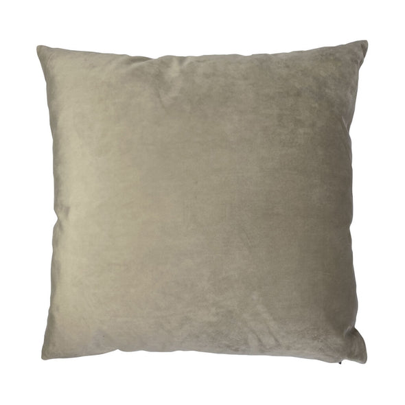 White Poppy Velvet Cushion Back