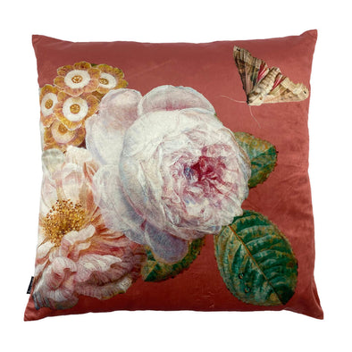 White Rose Velvet Cushion