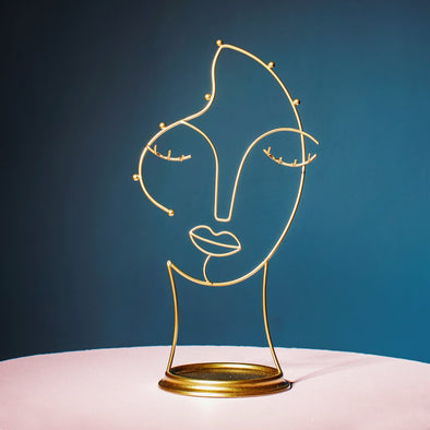 Wired Face Jewellery Stand