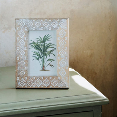 Wooden Diamond Photo Frame