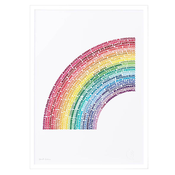 Words of The Rainbow Poster