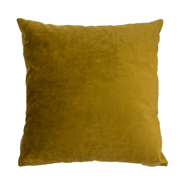 Yellow Palms Velvet Cushion Back