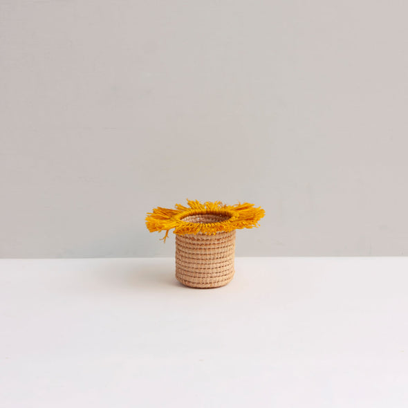 Yellow Tassel Basket