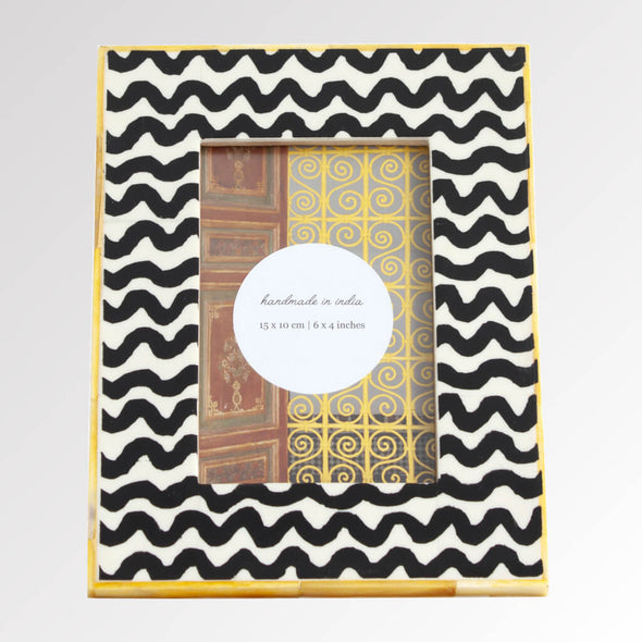 Yellow Squiggle Photo Frame