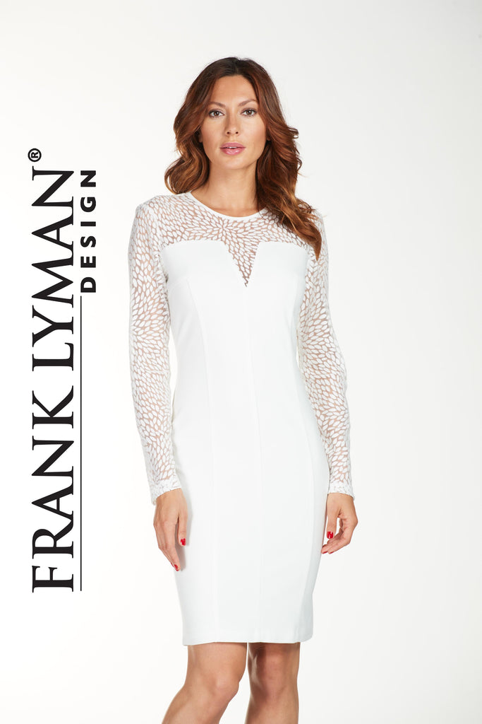 Frank Lyman White long sleeve dress