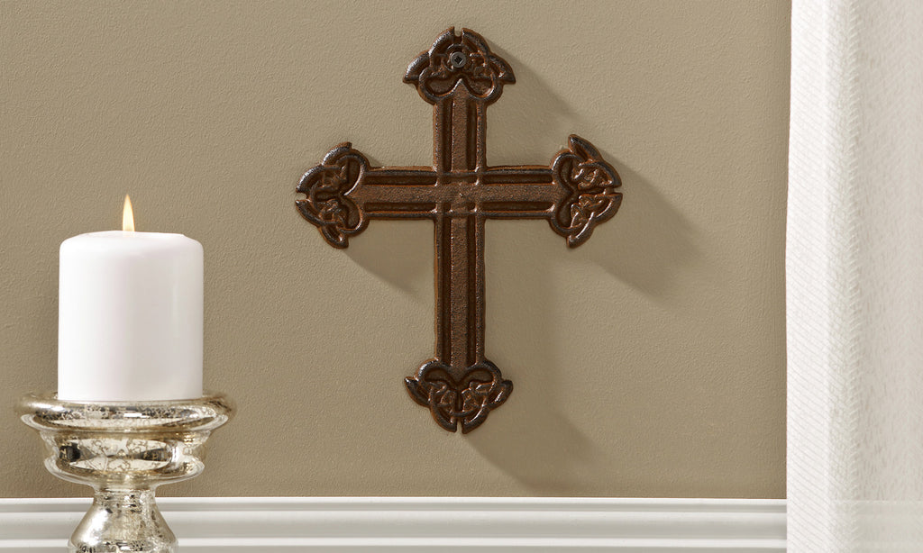 GC Cast Iron Wall Cross - Chelsea Street Boutique