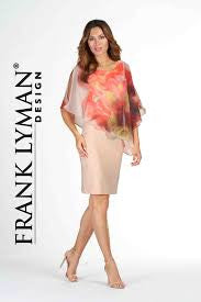 Frank Lyman Peach Cape Dress 78202