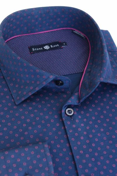 Stone Rose Geo Print Mens Shirt