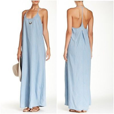 Love Stick Chambray Maxi Dress - Chelsea Street Boutique