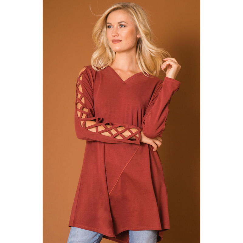 Simply Noelle Cut It Out Tunic Top